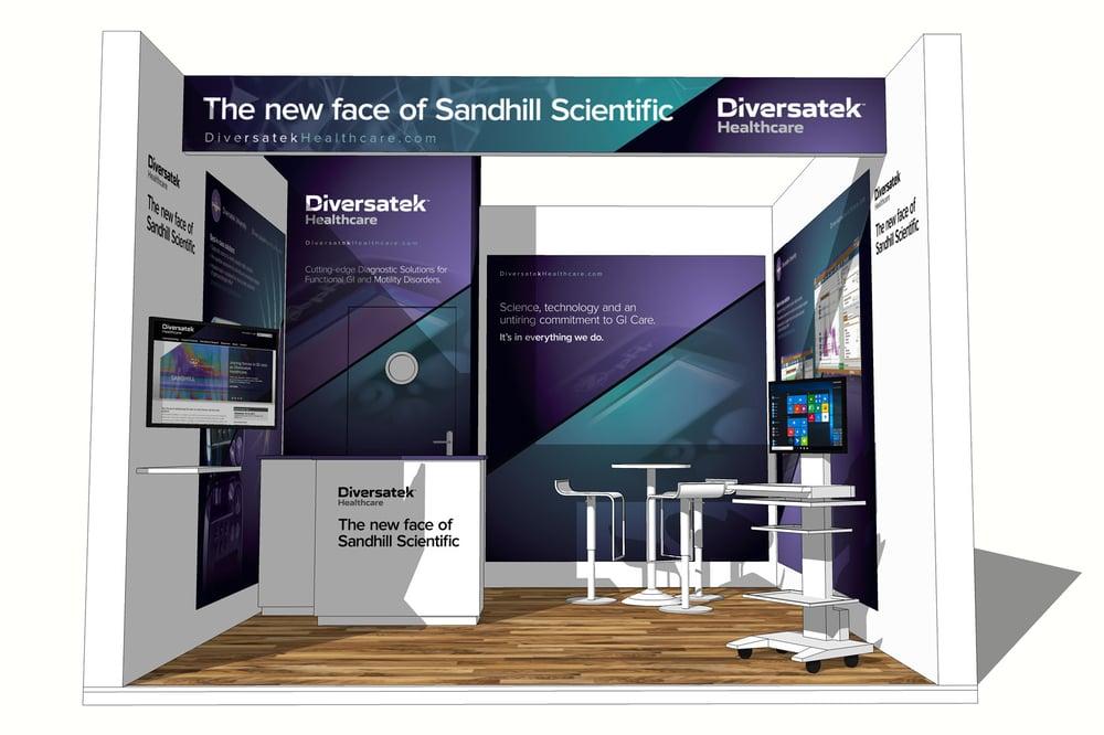 Diversatek Healthcare UEWG trade show graphics