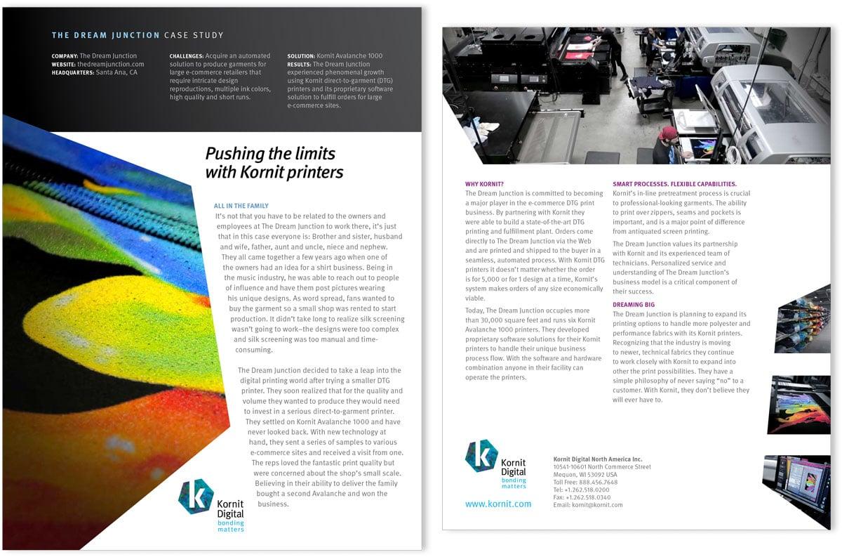 Kornit case study for The Dream Junction