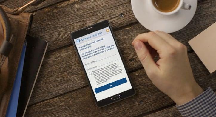 mobillennial using mortgagebotmobile on mobile phone