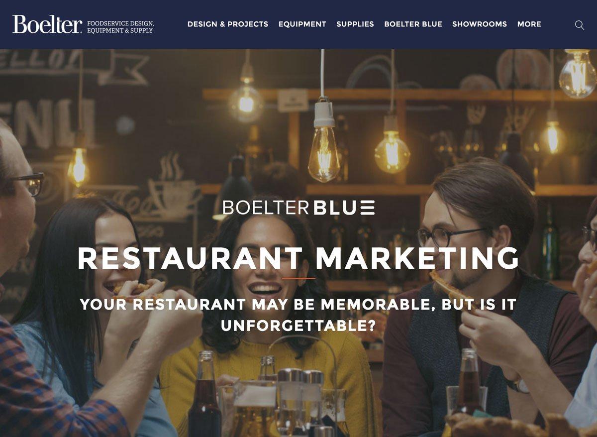 Boelter Blue Restaurant Marketing