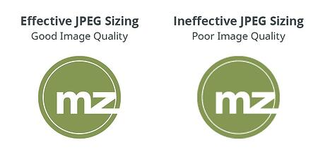 good jpeg quality vs. poor jpeg quality