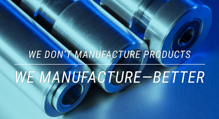 Interesting manufacturing website messaging and photography