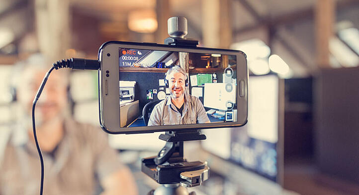 capturing marketing video from a mobile phone