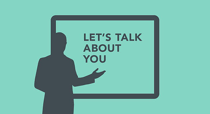 presenter giving business presentation