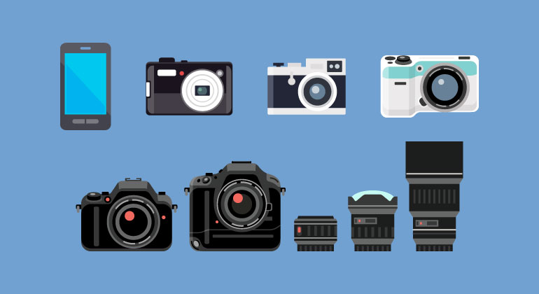 Different kinds of cameras