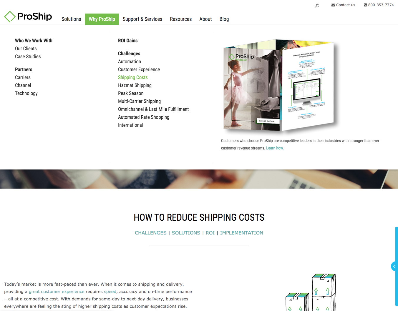 ProShip Shipping Costs pillar page