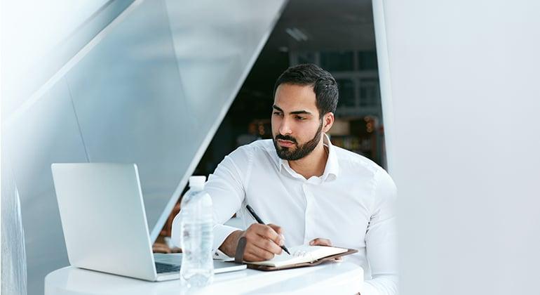 watching webinar