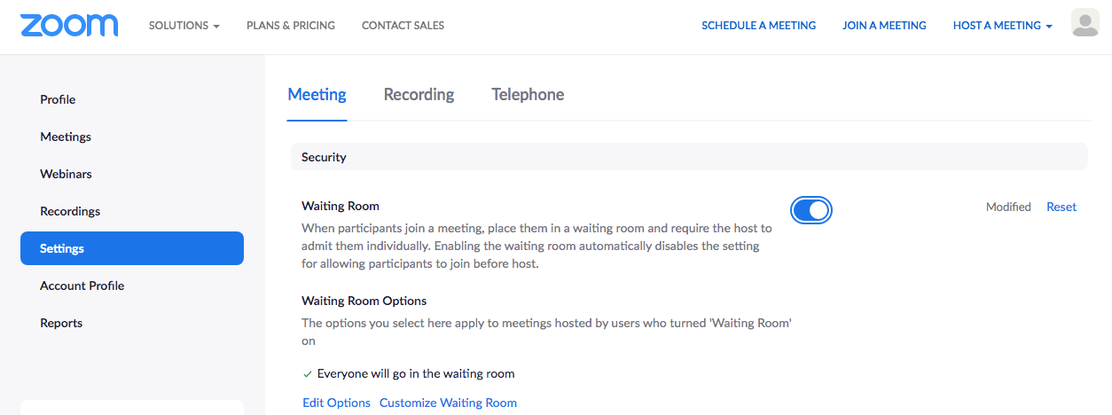 waiting-room-settings